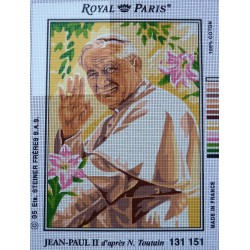canevas 30X40 marque ROYAL PARIS thème jean paul 2 dimension 30 centimètres par 40 centimètres 100 % coton