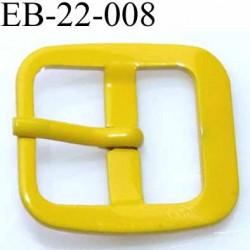 Boucle rectangle métal avec ardillon couleur jaune largeur 22 mm passage de la languette est de 14.5 mm