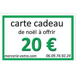 carte cadeau noël à offrir 20 €