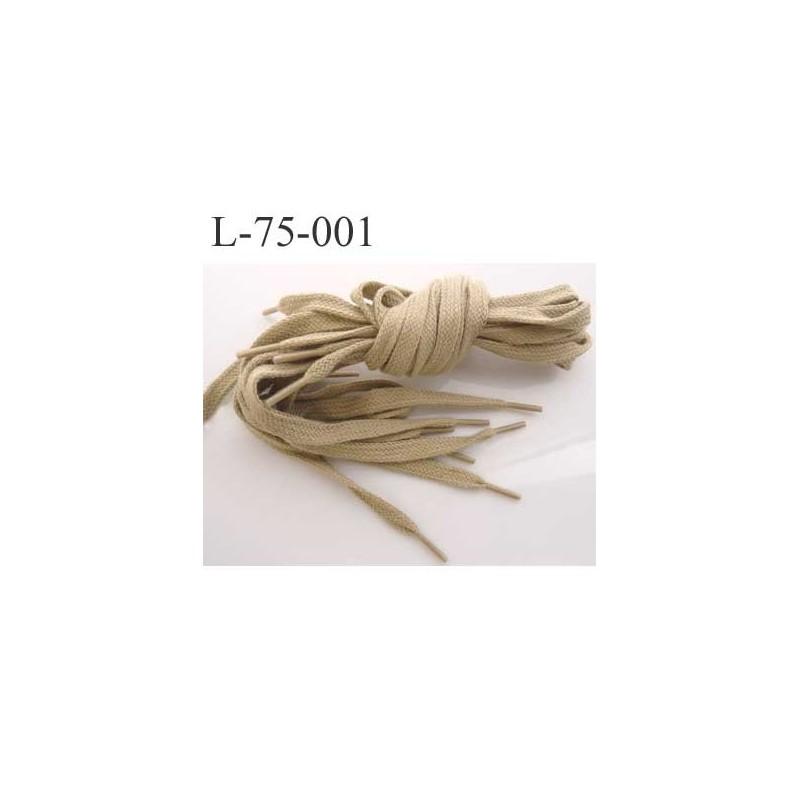 lacet plat coton longueur 75 cm couleur kaki clair largeur 7 mm paisseur 2 5 mm prix pour une. Black Bedroom Furniture Sets. Home Design Ideas