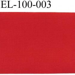 élastique plat très belle qualité couleur rouge lumineux largeur 100 mm  souple très solide et resistant prix au mètre