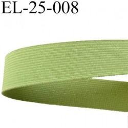 élastique plats de très bonne qualité largeur 25 mm couleur vert souple et en largeur bonne tenu  prix au mètre