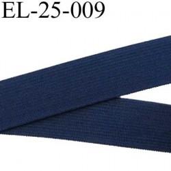 élastique plats de très bonne qualité largeur 25 mm couleur bleu souple et en largeur bonne tenu  prix au mètre