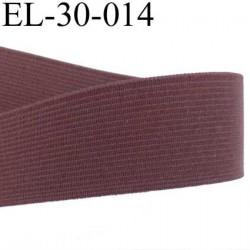 élastique plats de très bonne qualité largeur 30 mm couleur marron souple et en largeur bonne tenu  prix au mètre