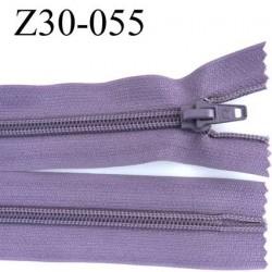 fermeture zip à glissière longueur 30 cm couleur lilas parme foncé non séparable zip nylon largeur 3,2 cm largeur du zip 6.5 mm