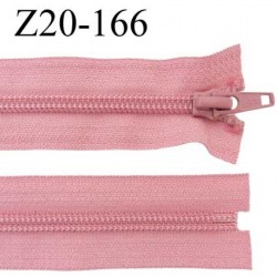 fermeture zip à glissière  longueur 20 cm couleur vieux rose non séparable zip nylon largeur 3,2 cm largeur du zip 6.5 mm
