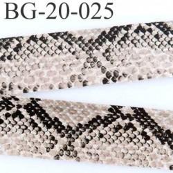 galon ruban façon cuir et serpent souple couleur noir beige blanc  très joli largeur 20 mm prix au mètre