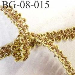 galon ruban rangé en serpentin couleur doré or et bronze largeur 8 mm  prix au mètre mètre