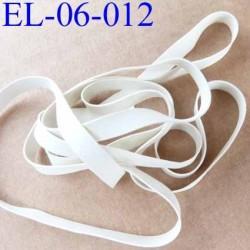 Elastique caoutchouc laminette naturel largeur 6 mm x 0.5 mm  résistantes couleur blanc gris prix au mètre
