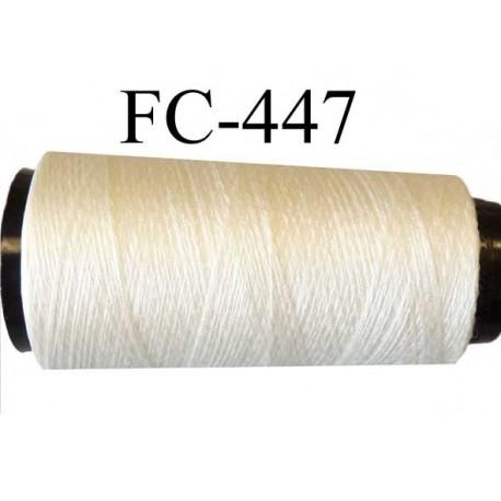Cone fil  mousse soie et polyester fil n° 210 très fin et fragile couleur naturel soie longueur 2000 mètres bobiné en France