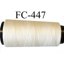 Cone fil  mousse soie et polyester fil n° 210 très fin et fragile couleur naturel soie longueur 5000 mètres bobiné en France
