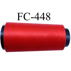 Cone de fil mousse polyamide fil n° 160 couleur rouge lumineux  longueur du cone 2000 mètres bobiné en France