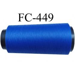 Cone de fil mousse polyamide fil n° 160 couleur bleu  longueur du cone 2000 mètres bobiné en France