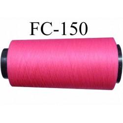 cone de fil mousse polyamide fil n°120 couleur rose fushia longueur du cone 1000 mètres bobiné en France