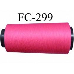CONE de fil mousse Polyester texturé fil n° 120 couleur rose  fluo longueur 1000 m bobiné en France