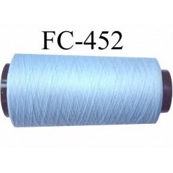 CONE de fil mousse polyamide fil n° 120 couleur bleu  longueur de 2000 mètres bobiné en France