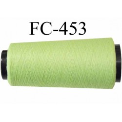 Cone de fil mousse texuré polyester fil n°100 couleur vert pistache longueur 5000 mètres bobiné en France