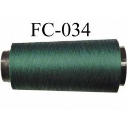 Cone de fil mousse polyamide fil n° 120 couleur vert  longueur 2000 mètres bobiné en France