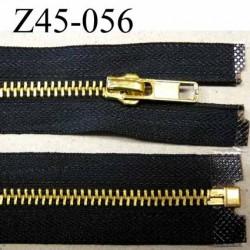 Fermeture zip noir glissière en métal doré brillant largeur 3 cm largeur glissière en métal largeur 6 mm