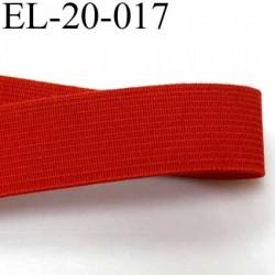 élastique plats de très bonne qualité largeur 20 mm couleur rouge souple et en largeur bonne tenu  prix au mètre