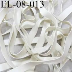 Elastique caoutchouc laminette naturel largeur 8 mm x 0.5 mm  très résistantes couleur blanc gris prix au mètre