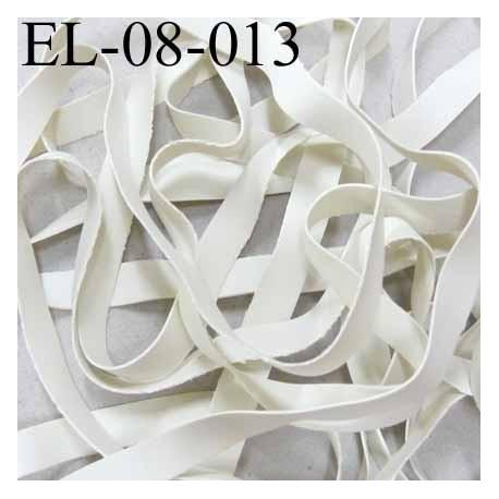 Elastique  laminette largeur 8 mm x 0.5 mm   couleur blanc gris prix au mètre