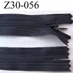 Fermeture zip invisible longueur 30 cm couleur noir non séparable largeur 2.2 cm glissière zip nylon largeur 4 mm