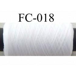 bobine de fil mousse polyamide fil n° 120 couleur blanc  longueur de 500 mètres bobiné en France
