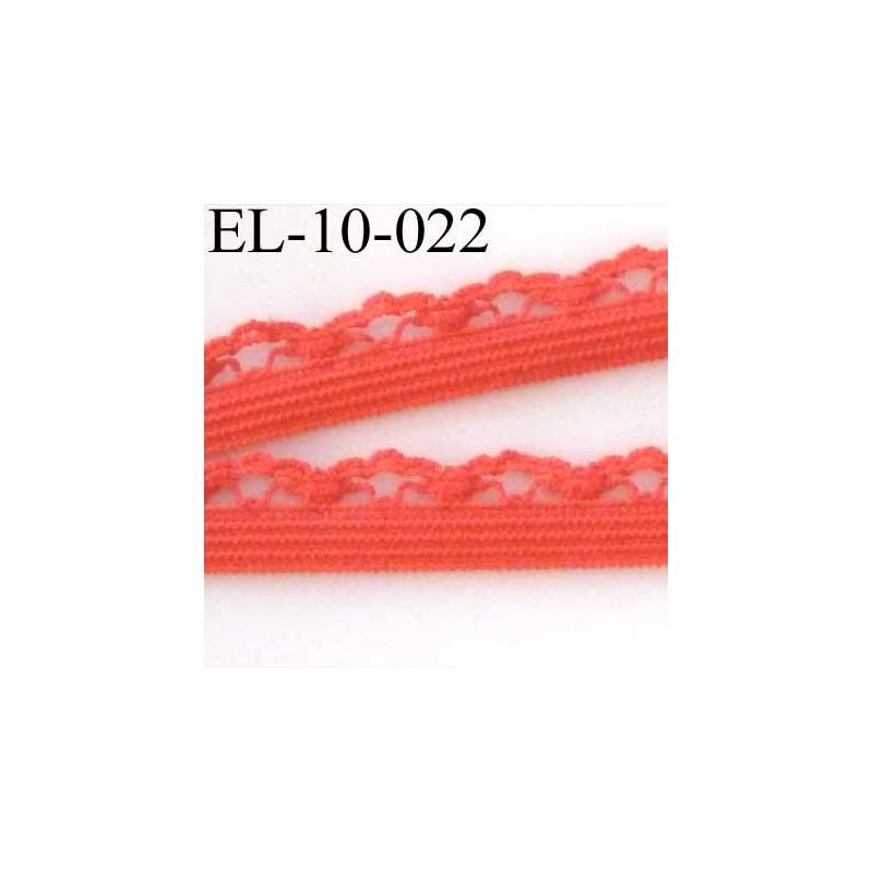 lastique picot dentelle plat largeur 10 mm couleur rose corail mercerie extra. Black Bedroom Furniture Sets. Home Design Ideas