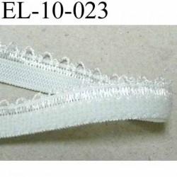 élastique picot dentelle plat largeur 10 mm couleur gris vert largeur de bande 7 mm largeur de dentelle boucle 3 mm très beau