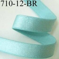 élastique plat largeur 12 mm épais superbe couleur vert aqua brillant prix au mètre