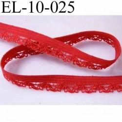 élastique picot dentelle plat largeur 10 mm couleur rouge  très beau