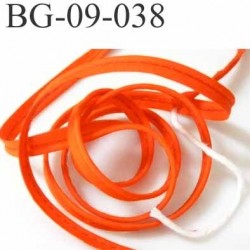 biais galon ruban passe poil en coton couleur orange foncé avec cordon coton très solide largeur 9 mm prix au mètre