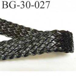 galon ruban tresse couleur noir façon cuir  largeur 30 mm souple et douce très agréable au toucher prix au mètre