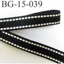 galon ruban couleur noir et blanc très solide peu servir de petite sangle largeur 15 mm très très solide prix au mètre