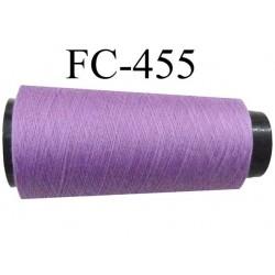 CONE de fil Polyester fil n° 120 couleur violine lilas  longueur de 5000 mètres bobiné en France