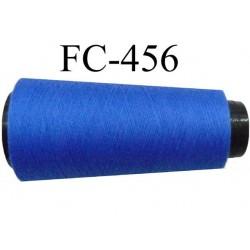 CONE de fil Polyester fil n° 120 couleur bleu lumineux  longueur de 5000 mètres bobiné en France