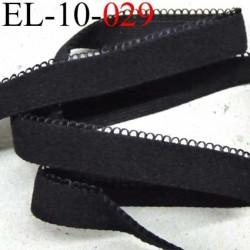 élastique picot dentelle plat largeur 12 mm couleur noir largeur de bande 10 mm largeur de  boucle 2 mm très beau