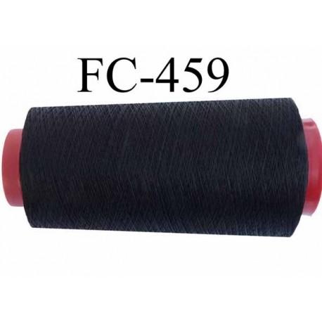 Cone de fil mousse polyester texturé fil n° 110 couleur noir cone de 1000 mètres bobiné en France