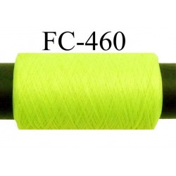 Bobine de fil mousse polyamide fil n° 110 / 2 couleur jaune fluo Bobine de 500 mètres bobiné en France