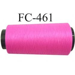 Cone de fil mousse polyamide fil n° 110 / 2 couleur rose fluo Cone de 2000 mètres bobiné en France