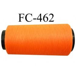 Cone de fil mousse polyamide fil n° 110 / 2 couleur orange fluo Cone de 1000 mètres bobiné en France