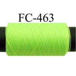 Bobine de fil mousse polyamide fil n° 110 / 2 couleur vert fluo Bobine de 500 mètres bobiné en France