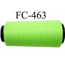 Cone de fil mousse polyamide fil n° 110 / 2 couleur vert fluo Cone de 2000 mètres bobiné en France
