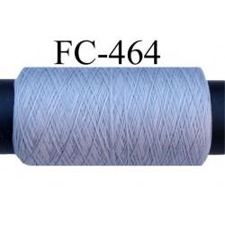 Bobine de fil mousse polyamide fil n° 110 / 2 couleur gris Bobine de 500 mètres bobiné en France