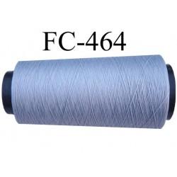 Cone de fil mousse polyamide fil n° 110 / 2 couleur gris Cone de 2000 mètres bobiné en France