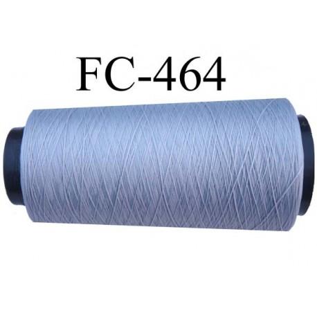 Cone de fil mousse polyamide fil n° 110 / 2 couleur gris Cone de 5000 mètres bobiné en France