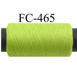 Bobine de fil mousse polyamide fil n° 110 / 2 couleur vert anis Bobine de 500 mètres bobiné en France