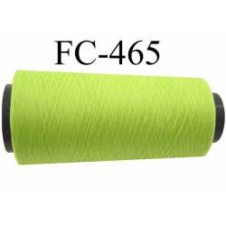 Cone de fil mousse polyamide fil n° 110 / 2 couleur vert anis Cone de 2000 mètres bobiné en France