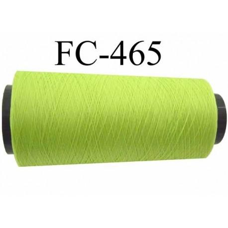 Cone de fil mousse polyamide fil n° 110 / 2 couleur vert anis Cone de 5000 mètres bobiné en France